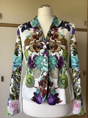 White Label - Baumwollblazer mit floralem Print