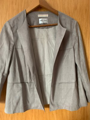 White Label Blazer en cuir gris brun