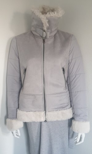 White Label Down Jacket silver-colored-light grey