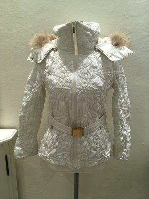 White Label Fur Jacket white-gold-colored mixture fibre