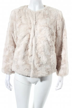 White Label Fake Fur Jacket oatmeal fluffy