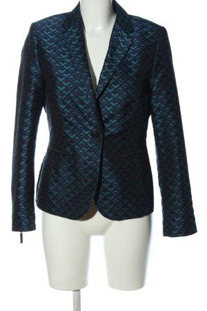 White Label Kurz-Blazer blau-grün Allover-Druck Elegant