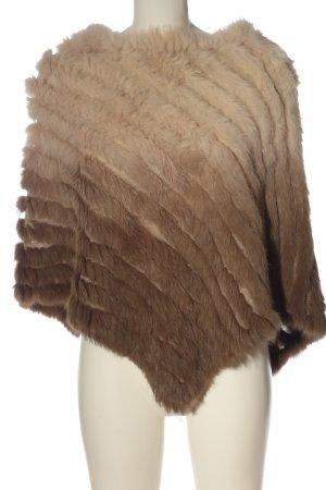 White Label Poncho brun-blanc cassé gradient de couleur style décontracté