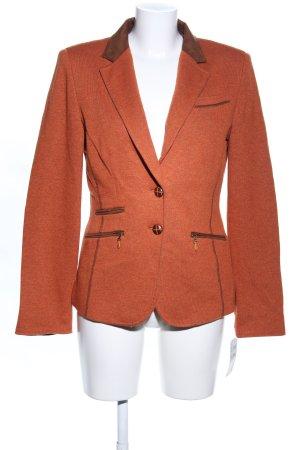 White Label Woll-Blazer hellorange-braun Business-Look