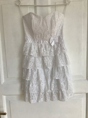 White laces Mini dress from Flavio Castellani