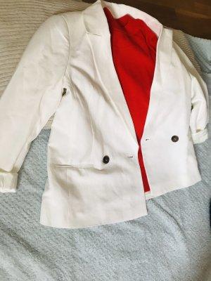 White linen oversize blazer von Forever New