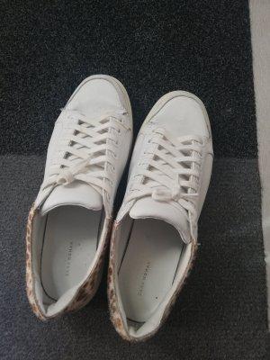White Sneaker Pump Shoes