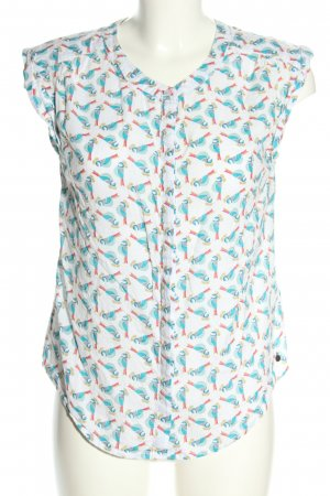 White Stuff ärmellose Bluse grafisches Muster Business-Look