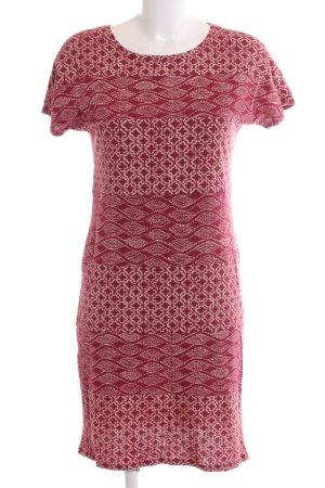 White Stuff Jerseykleid rot-wollweiß Allover-Druck Casual-Look