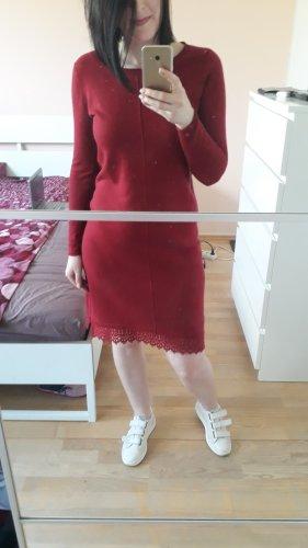 White Stuff  Wolle & Kaschmir Kleid, Größe 10/38/M, Rot, Neu mit Etikett