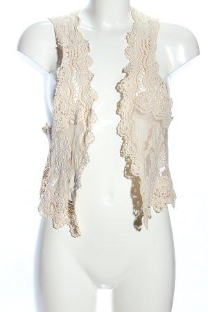 White T Bolero creme Blumenmuster klassischer Stil