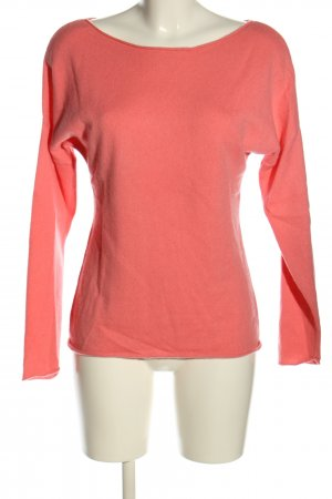 White T Cashmere Jumper pink casual look