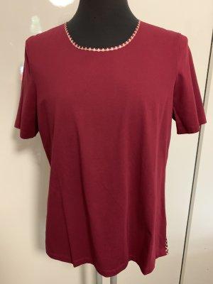 White T Shirt Bluse Seide 100% Bordeaux Gr M Neu NP 139€