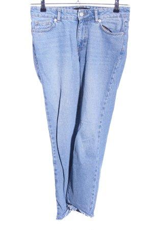 WHY7 Jeans boyfriend bleu style décontracté