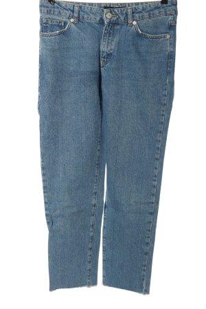 WHY7 Jeansy z wysokim stanem niebieski W stylu casual