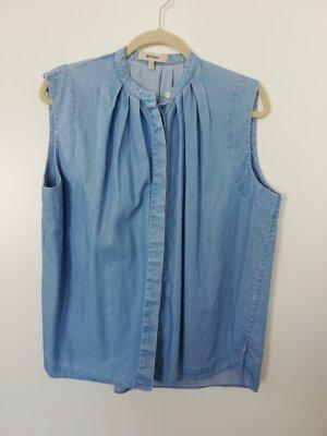 whyred ärmellos Bluse in jeansblau