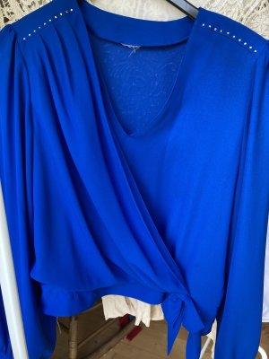keine Marke Empiècement de blouses bleu fluo