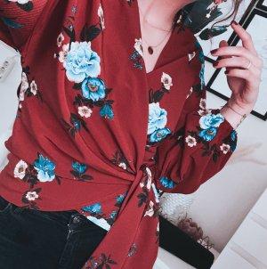 Wickel Bluse mit Blumen Muster