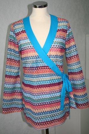 Wickel-Blusenjacke von APART, 70er Style, Häkeloptik, bunt