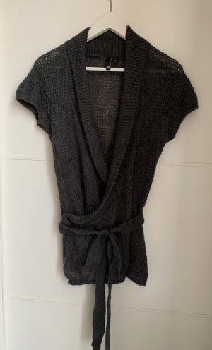 H&M Divided Short Sleeve Knitted Jacket anthracite