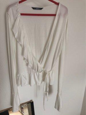 SheIn Wraparound Shirt natural white