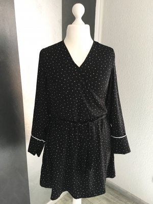 Wickel-Optik Kleid gepunktet Gr. 42/44