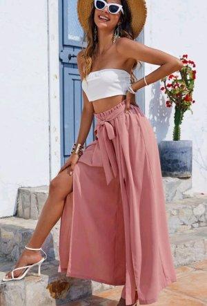 Falda cruzada rosa empolvado