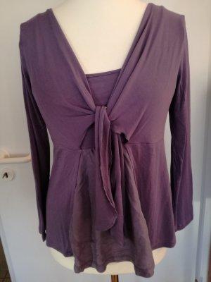 Wickel-Shirt aus Viskose/Seide, violett/helllila