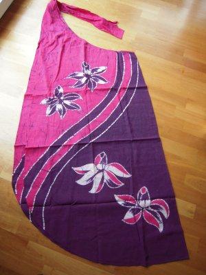 Batik Abito avvolgente viola-rosso lampone Cotone