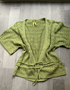Tom Tailor Knitted Wrap Cardigan meadow green