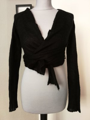 Sportstaff Knitted Wrap Cardigan black
