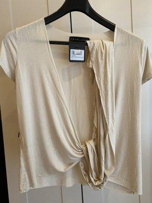 Maglietta aderente bianco sporco