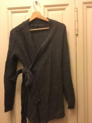 Vila Clothes Cache-cœur en tricot gris foncé-gris anthracite