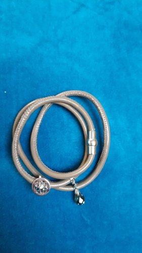 TCM Lederen armband grijs-bruin