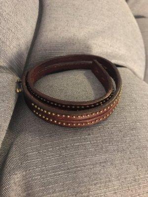 Fossil Lederen armband bruin
