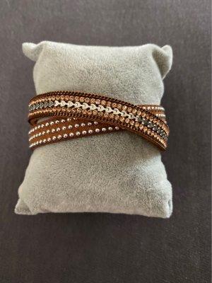 Bracelet cognac-coloured-brown