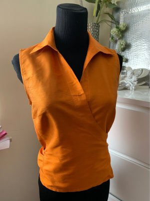 Matthew Goodman Camicetta aderente arancione-arancione scuro