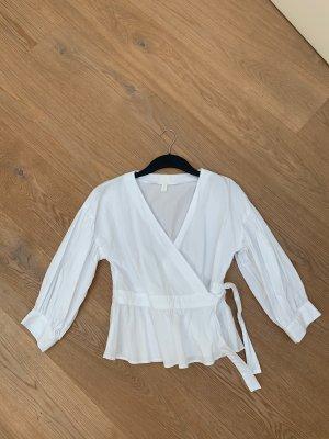 H&M Kopertowa bluzka biały