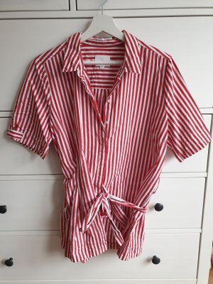 InWear Blouse portefeuille blanc-rouge