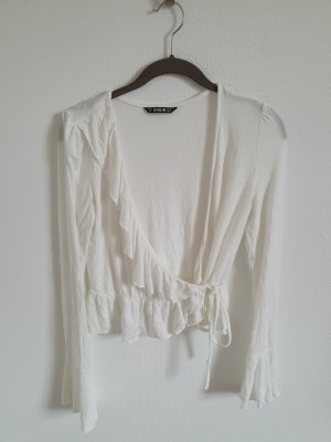 SheIn Wraparound Blouse white