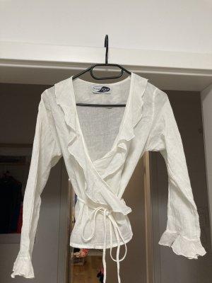 Morocha Ibiza Kopertowa bluzka w kolorze białej wełny Bawełna