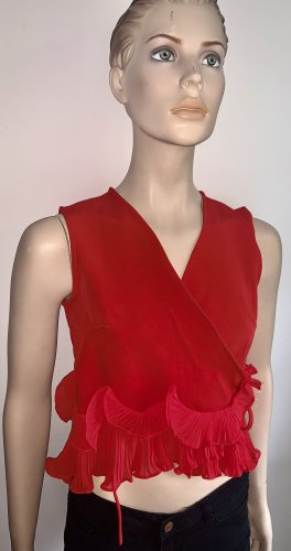 Blusa cruzada rojo
