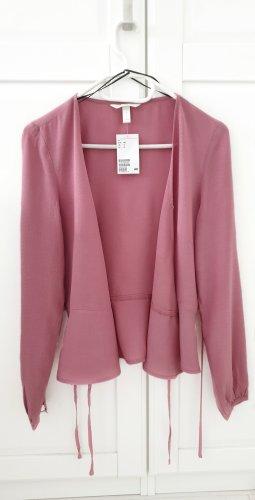 H&M Wikkelblouse stoffig roze