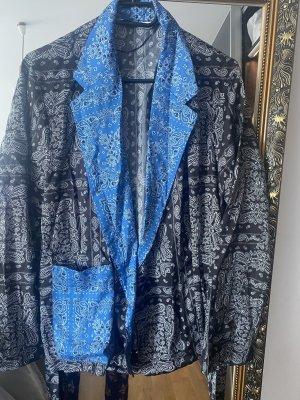 Zara Kopertowa bluzka czarny-ciemnoniebieski