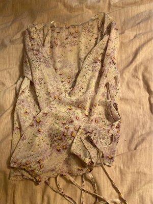 H&M Blouse portefeuille rose clair-blanc