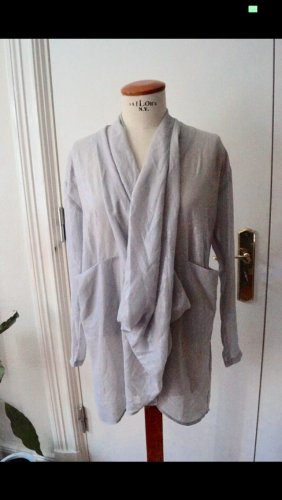 Wickelbluse Gr.38 Heine Silber Blusen Kleid Tunika