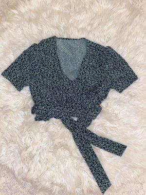 Blusa cruzada verde oscuro