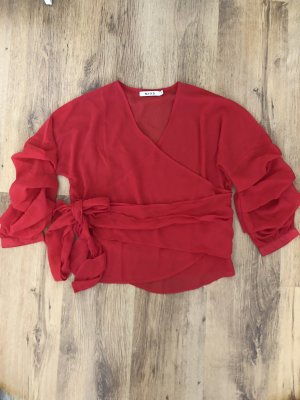 NA-KD Kopertowa bluzka czerwony-ceglasty Poliester