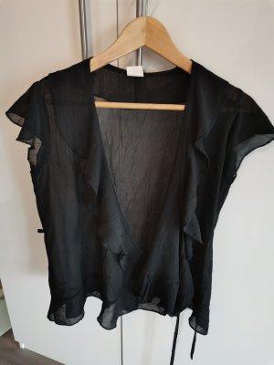 keine Marke Kopertowa bluzka czarny
