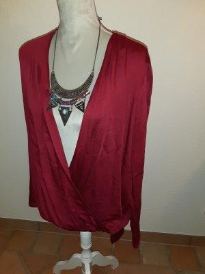 Esprit Blusa cruzada rojo-rojo oscuro